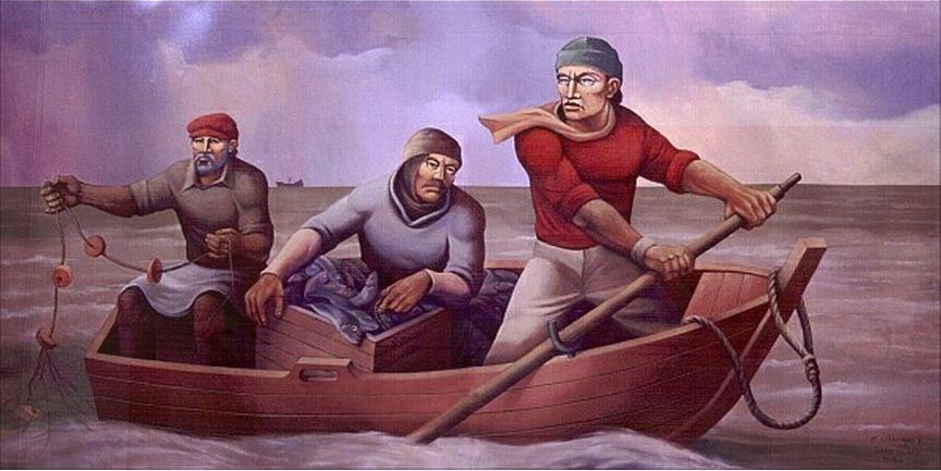 Pescadores de río por Rodolfo Campodónico