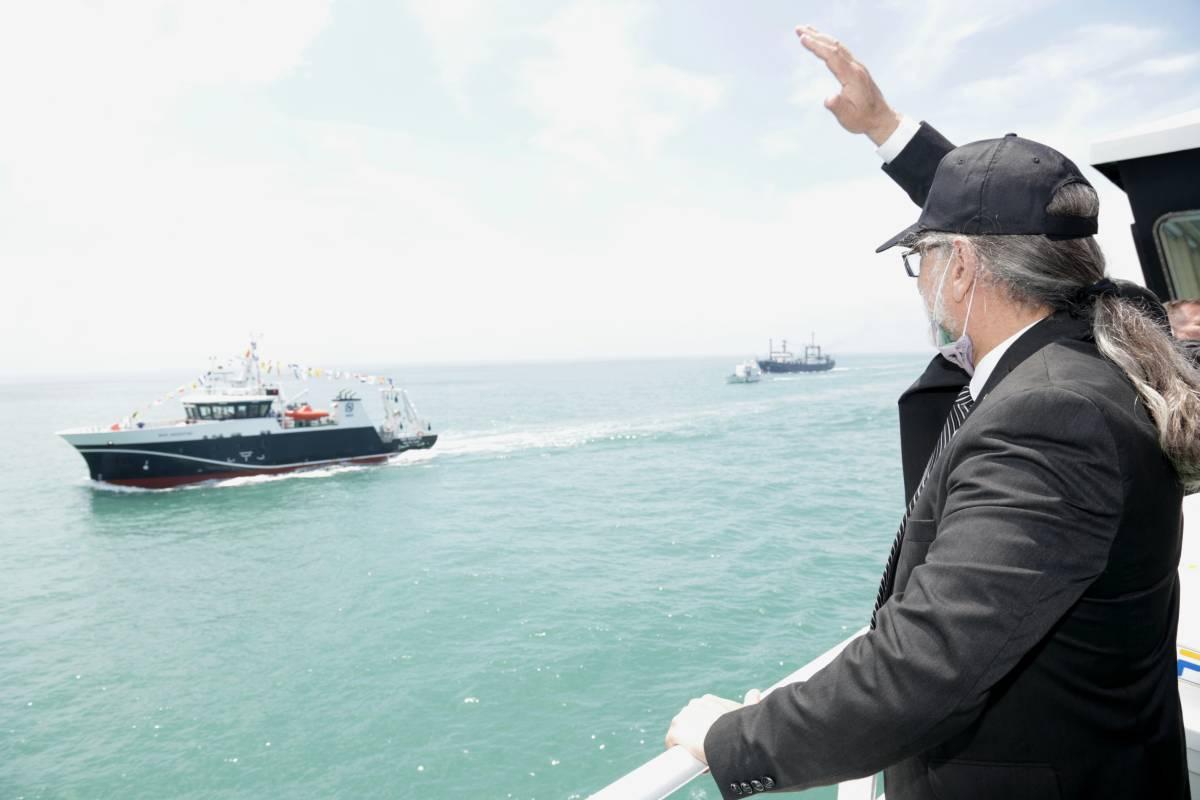 Inicio Ministerio de Agricultura, Ganadería y Pesca. El Ministerio de Agricultura recibió al nuevo buque de investigación del INIDEP