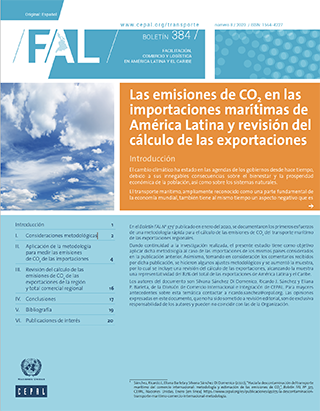 Las emisiones de CO2 en las importaciones marítimas de América Latina y revisión del cálculo de las exportaciones